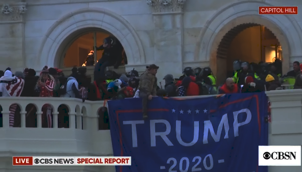 A pro-Trump mob gathered at the US Capitol amid tear gas